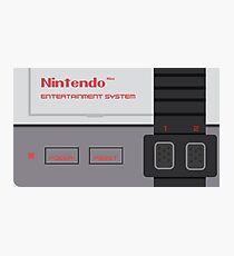 Nintendo Entertainment System Classic Photographic Print
