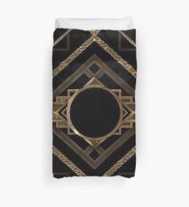 Art deco,vintage,1920 era,The Great Gatsby,gold,black,pattern,elegant,chic,modern,trendy Duvet Cover