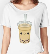 Boba Pattern Women's Relaxed Fit T-Shirt