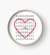 """Sagen Sie """"Ich liebe dich"""" im Binärcode Uhr"""