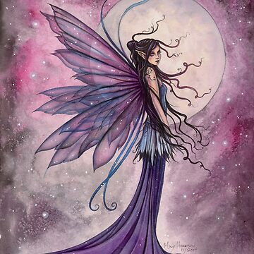 Starlit Amethyst Fairy Fantasy Art by Molly Harrison by robmolily
