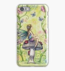 A Happy Place Flower Fairy and Ladybugs iPhone Case/Skin