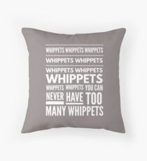 More than two whippets? Throw Pillow
