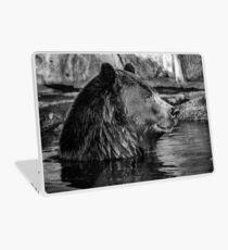 BROWN BEAR IN B&W Laptop Skin