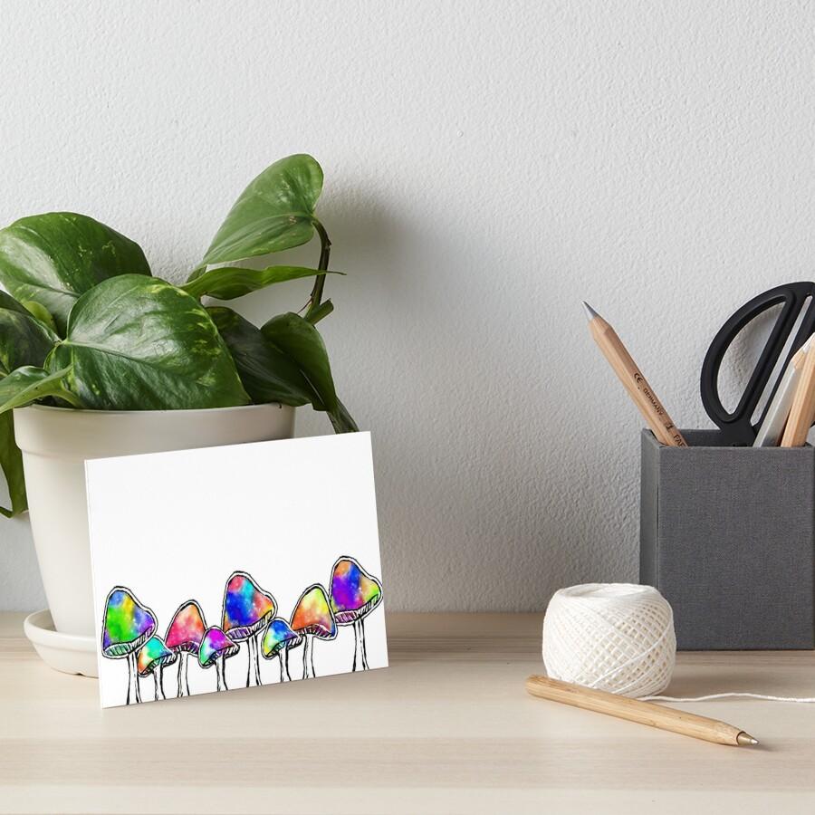 Magic Mushrooms Art Board Print