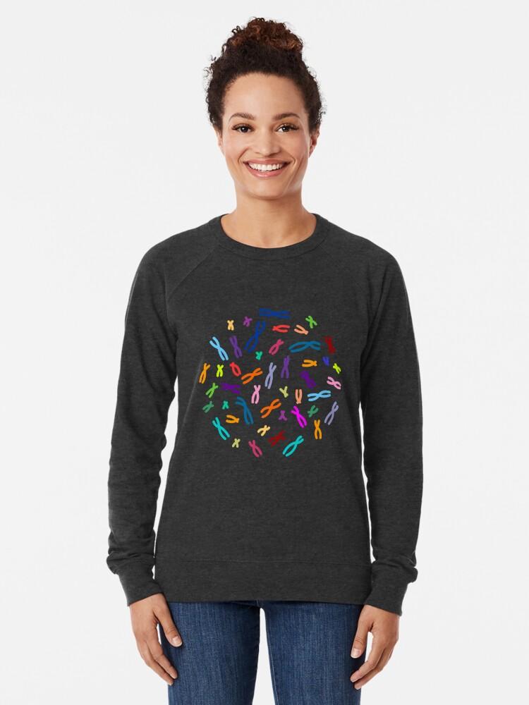Alternative Ansicht von Farbkodierte DNA Leichter Pullover