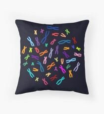 Color Coded DNA Throw Pillow