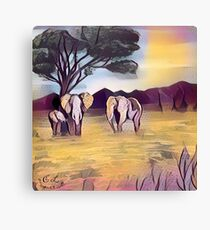 Family Stick Together  Canvas Print