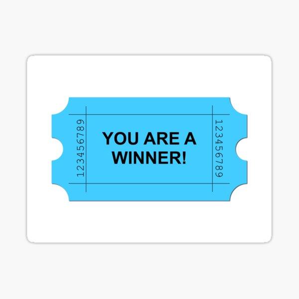 Ticket Blue Sticker