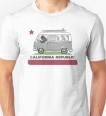California Republic Bear Surfing Van T-Shirt