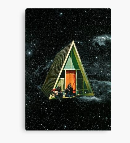 A house in space Canvas Print