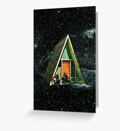 A house in space Greeting Card