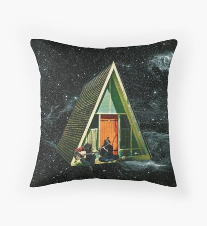 A house in space Throw Pillow