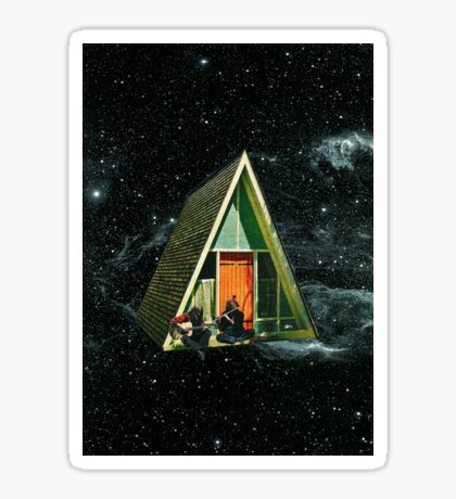 A house in space Sticker