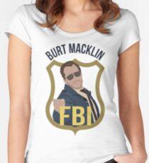 Burt Macklin - Parks and Recreation Women's Fitted Scoop T-Shirt
