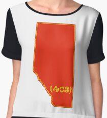 Southern Alberta Area Code 403  Chiffon Top