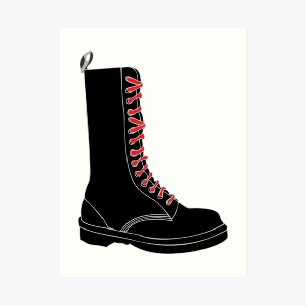 Boot with red laces [skinhead] Art Print