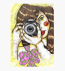 SMILE FOR THE CAMARA  Photographic Print