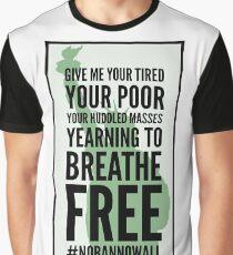 Statue of Liberty #nobannowall Graphic T-Shirt