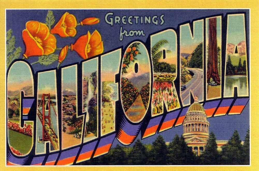 Vintage California Travel Postcard