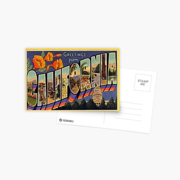 Carte postale vintage de voyage de la Californie Carte postale
