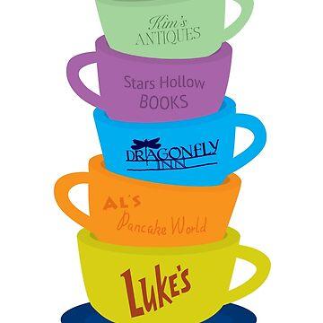 Mugs, Gilmore Girls by kcgfx