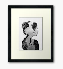 Double Exposure Diver Framed Print