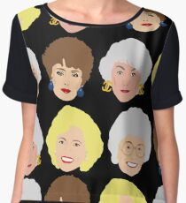 The Golden Girls Patterned Portraits Chiffon Top