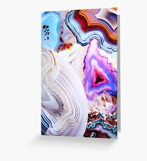 Agate Rocks, Slices of Earth Greeting Card