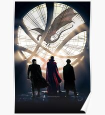 Benedict Cumberbatch 4 iconic characters by lichtblickpink Poster