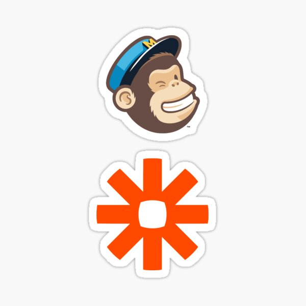 Mailchimp and Zapier Stickers Sticker