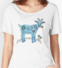 Blue Goat Women's Relaxed Fit T-Shirt