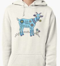 Blue Goat Pullover Hoodie