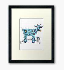 Blue Goat Framed Print