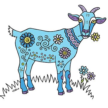 Blue Goat by PeggyCline