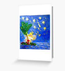 Angel in the Tropics Designer Art Decor & Gifts Greeting Card
