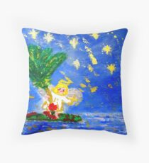 Angel in the Tropics Designer Art Decor & Gifts Throw Pillow