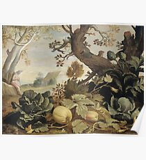 Abraham Bloemaert - Landscape With Fruits And Vegetables In The Foreground Poster