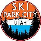 SKI PARK CITY UTAH MOUNTAINS SKIING SKIER PARK CITY ALTA by MyHandmadeSigns