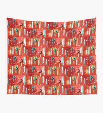 Primary Colors Boomerang Pattern Wall Tapestry