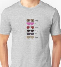 Wrestling Sunglasses Through the Ages Unisex T-Shirt