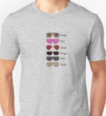 Wrestling Sunglasses Through the Ages Unisex T-Shirt