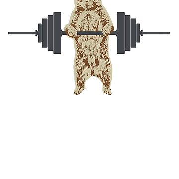 Weightlifting Bear by scoundrel