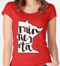 Minnesota Love Women's Fitted Scoop T-Shirt