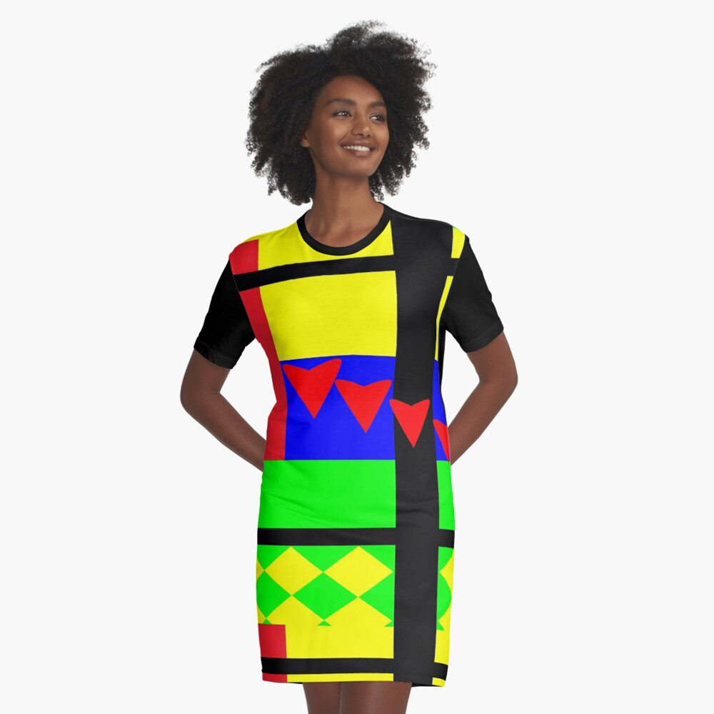 Fun with Color by Julie Everhart Graphic T-Shirt Dress