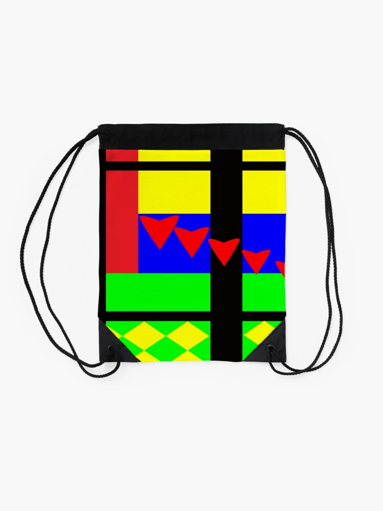 Alternate view of Fun with Color by Julie Everhart Drawstring Bag