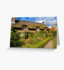 Country Cottage - North Yorkshire. Greeting Card