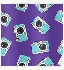photocamera doodle pattern Poster
