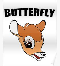 """Bambi (""""Butterfly"""") Poster"""