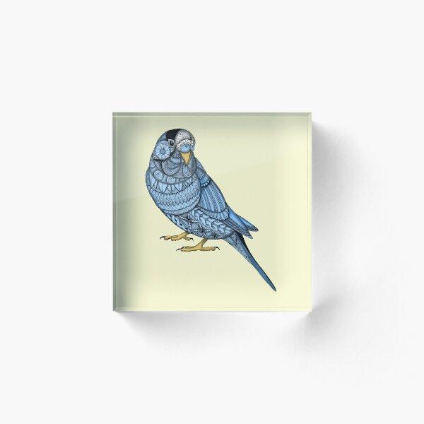 Parakeet - Blue Acrylic Block